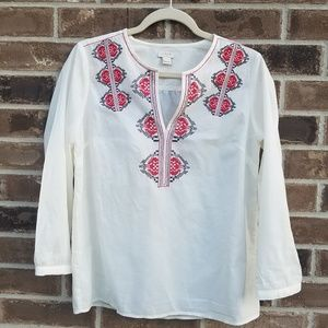 J.Crew Nwot embroidered blouse, S